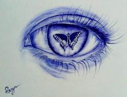 Eyes (ART_3389_22414) - Handpainted Art Painting - 12in X 16in