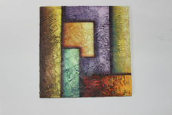 Artoholic Canvas Painting 12 INCH X12 INCH Set of 1  Special Effect Textured-N (ART_3319_22577) - Handpainted Art Painting - 12in X 12in