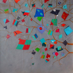 Treasure of the Childhood X (ART_805_22921) - Handpainted Art Painting - 18in X 18in