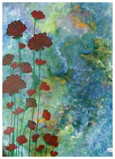 Gloomy spring (ART_3537_22990) - Handpainted Art Painting - 22in X 32in