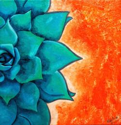 The Eternal Flower - Kalatva003 (unframed) (ART_3259_21652) - Handpainted Art Painting - 12in X 12in