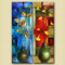 TwinVases - 20in X 24in (10in X 24in each X 2 Pcs),31GRP80_FRM_1620,Multi-Color,40X50 Size,Multi Panel Art Canvas Painting