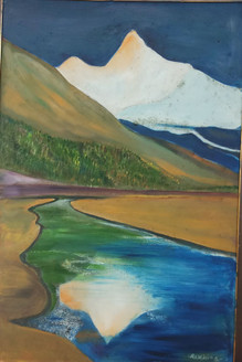WITHIN (ART_3355_23273) - Handpainted Art Painting - 21in X 31in (Framed)