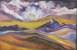 SOMEWHERE (ART_3355_23269) - Handpainted Art Painting - 32in X 23in (Framed)
