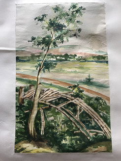 Natural Valley  (ART_3639_23467) - Handpainted Art Painting - 13in X 20in