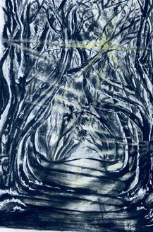 Sunrays (ART_3617_23527) - Handpainted Art Painting - 10in X 14in