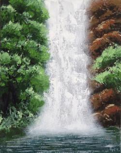 Monsoon - White beauty (ART_3102_20930) - Handpainted Art Painting - 16in X 20in (Framed)