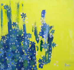 Floral (ART_3440_22648) - Handpainted Art Painting - 20in X 22in