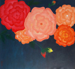 Blossom (ART_3440_22612) - Handpainted Art Painting - 20in X 22in