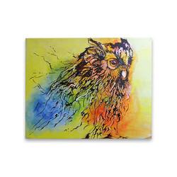 Owl Head Painting (ART_3689_23648) - Handpainted Art Painting - 40in X 51in