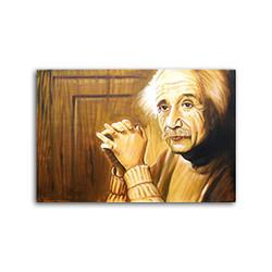 Albert Einstein Potrait (ART_3689_23646) - Handpainted Art Painting - 24in X 36in