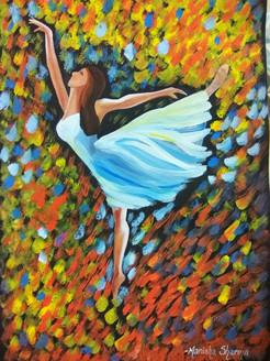 Dance is Life (ART_3586_23238) - Handpainted Art Painting - 12in X 17in