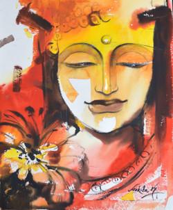 Enlightenment (ART_3682_23685) - Handpainted Art Painting - 20in X 24in
