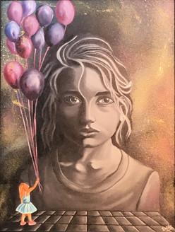 Nostalgia  (ART_3675_23669) - Handpainted Art Painting - 24in X 18in