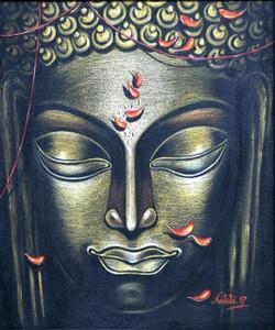 Wisdom Embodied (ART_3682_23611) - Handpainted Art Painting - 20in X 24in
