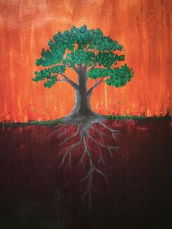 Tree (ART_3012_20629) - Handpainted Art Painting - 16in X 20in