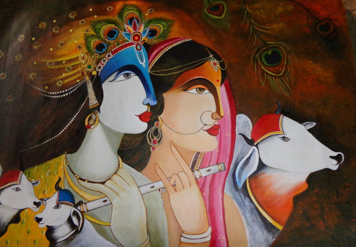 Easy Lord Krishna And Radha Paintings Lord Krishna And Radha