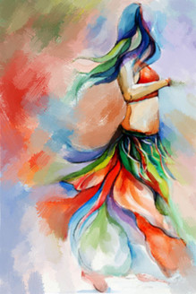 31Dance53 - 24in X 36in,31Dance53_2436,Multi-Color,50X75 Size,Modern Art Art Canvas Painting