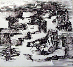 Abstract Series 26 - 14in X 11in,ART_AKRR76_1411,Ink Color,Artist Ashok Revankar,Abstract Art,Abstract Black and White paintings Paintings - Buy painting online in india