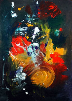 Black Abstract - 16in  X 20in (Framed),ART_PDDE01_1620,Acrylic Colors,Artist Prasad Dabke - Buy Paintings Online in India