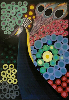 Peacock - 24in  X 30in (Canvas Board),ART_SHSA08_2430,Acrylic Colors,Artist Subodh Sharma,Peacock,National Bird,More ,Mayur - Buy Paintings Online in India