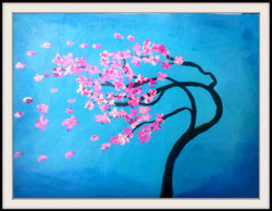 Blossom Tree - 18in X 14in (Border Framed),ART_PHME20_1814,Artist Paresh More,Beauty of Blossom,Tree - Buy Online painting in india