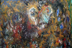 Devil Musings - 27in X 19inn,Devil Musings - 27in X 19in,Artist Ganesh Bhat,Abstract - Buy paintings online in india