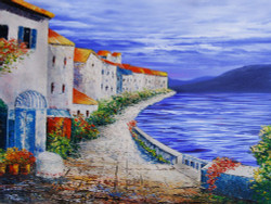 25Mediterranean08 - 40in X 30in - Painting