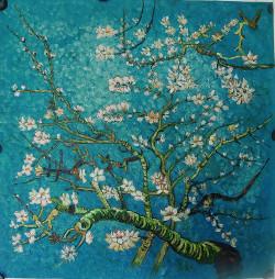VanGogh01 - 36in X 36in,FIZ041VAN_3636,Blue, Violet, Mauve,90X90,Replicas Art Canvas Painting