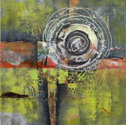 Abstract,green abstract,circles,green abstract painting