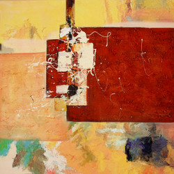 Abstract,abstract paintings,red  abstract,red paintings