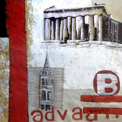 abstract,monuments,landscape,paintings of monuments,monument paintings,brown,white