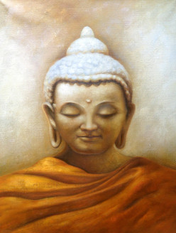 25Buddha30 - 30in X 40in,25Buddha30_3040,God,Buddism,Meditation,Mind Peace,Oil Colors,Canvas,Yellow, Brown,Rs.4790,Buddha;Latest Collection;By Orientation and Size/Vertical/Large (33in to 40in);Full Collection,Community Artists Group,Museum Quality -