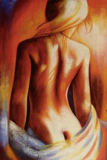 Discerning - Handpainted Art Painting - 24in X 36in