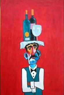 Waiter,Server,Wine,Wine Glass