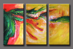 abstract, green abstract, red, yellow,positive, optimistic