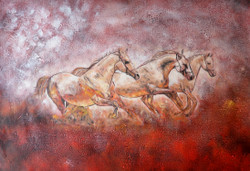 25Horse09 - 40in X 30in - Painting