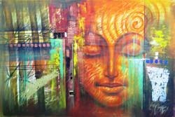 Buddha,Orange Shade Buddha,Peace,Meditaion,Nirvana