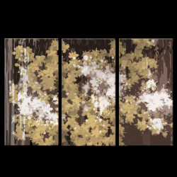 28GRP119 - 48in X 32in (16in X 32in each X 3 pcs.),28GRP119_4832,Flower,Floral,Canvas,Oil Colors,Yellow, Brown,Rs.2990,Florals;Multi Piece;Latest Collection;By Orientation and Size/Horizontal/X.Large (41in to 50in);Full Collection,Community Artists,m