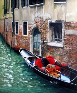 Sea Shore,Beauty of Venice,Ships,Red ,Blue Ship,Boat