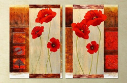 flower, red flower, multi piece flower, abstract, red