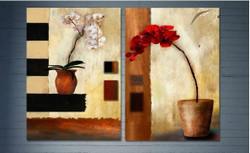 flowers, flower , red flower, white flower, flower vase, flower pot, multipiece