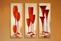 abstract, glass, glass set, multi piece
