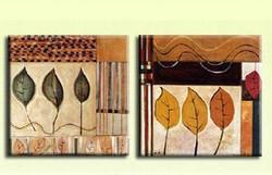 leaf, leaves, mutipiece leaves, brown leaves, green leaves, leaf paintings