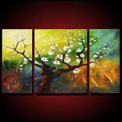 multi piece tree, blossom tree, tree of blossoms, white flower, flower, tree