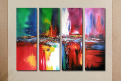 multi piece abstract, abstract,colorful, colorful mutipiece, multi color multi piece painting, splash