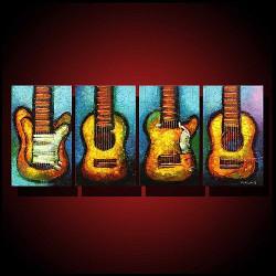 music,musical instruments, guitar, multi piece guitar