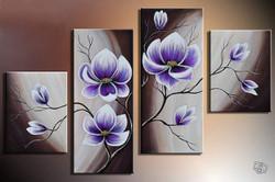 Flower, flowers, blossom, violet blossom, multi piece flower, multi piece violet flower