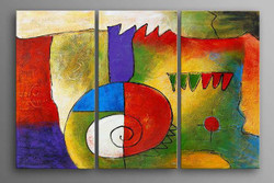 abstract, multi piece abstract, multi color abstract, curves