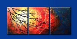 tree, abstract tree, night, dream , dreamy tree, orange
